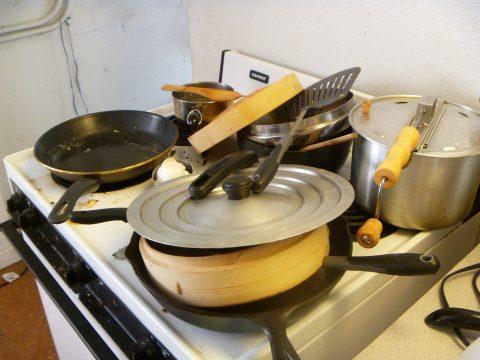 Pots & Pans on stove