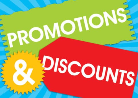 Promotions and Discounts Sticker